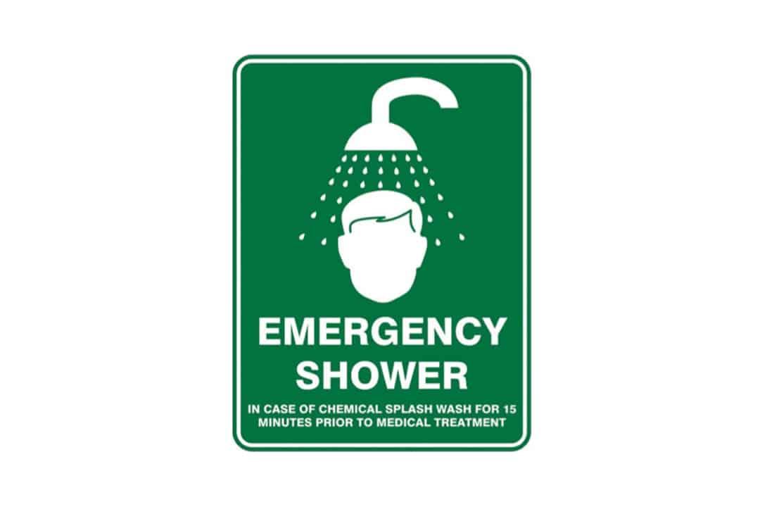 Emergency Eye Wash Shower Station Signage