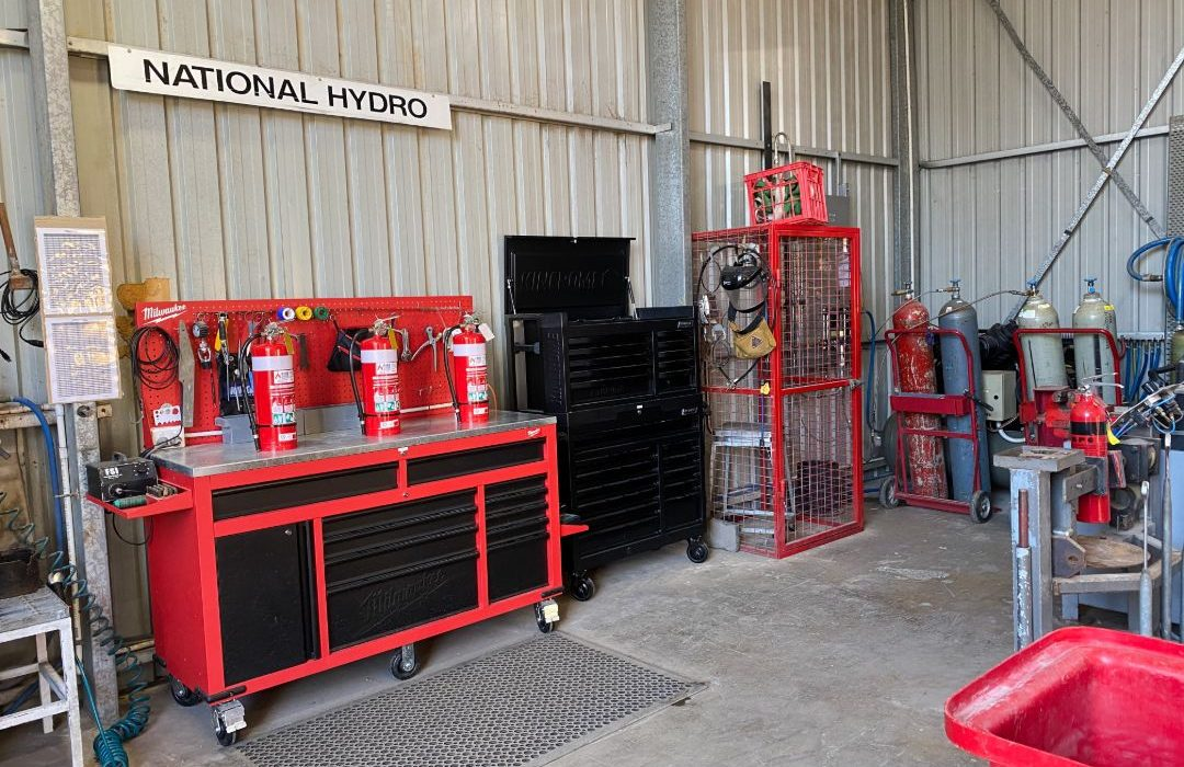 Workshop for testing and refilling Fire Extinguishers