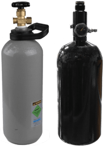 Carbon Dioxide cylinders for hydrostatic testing