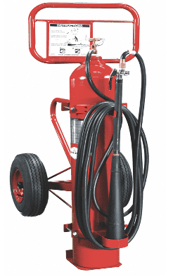 Wheeled Carbon Dioxide Fire Extinguisher for aviation fire fighting