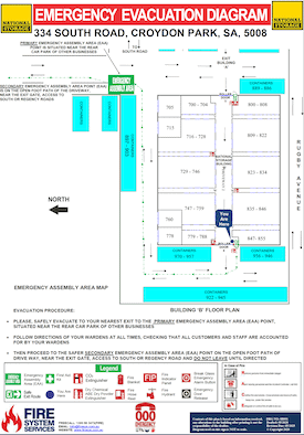 Evacuation Plans for building