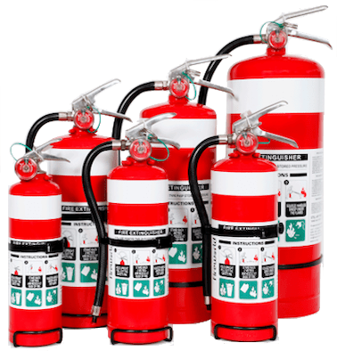 Class ABE Dry Chemical Powder Fire Extinguishers