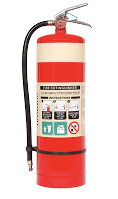 Wet Chemical Fire Extinguisher for fat fires
