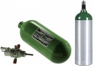 Aviation Oxygen Cylinders for Hydrostatic Pressure Testing