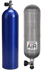 Air Scuba & Breathing Apparatus cylinders for Hydrostatic Pressure Testing