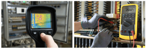 thermal image testing on electrical distribution boards