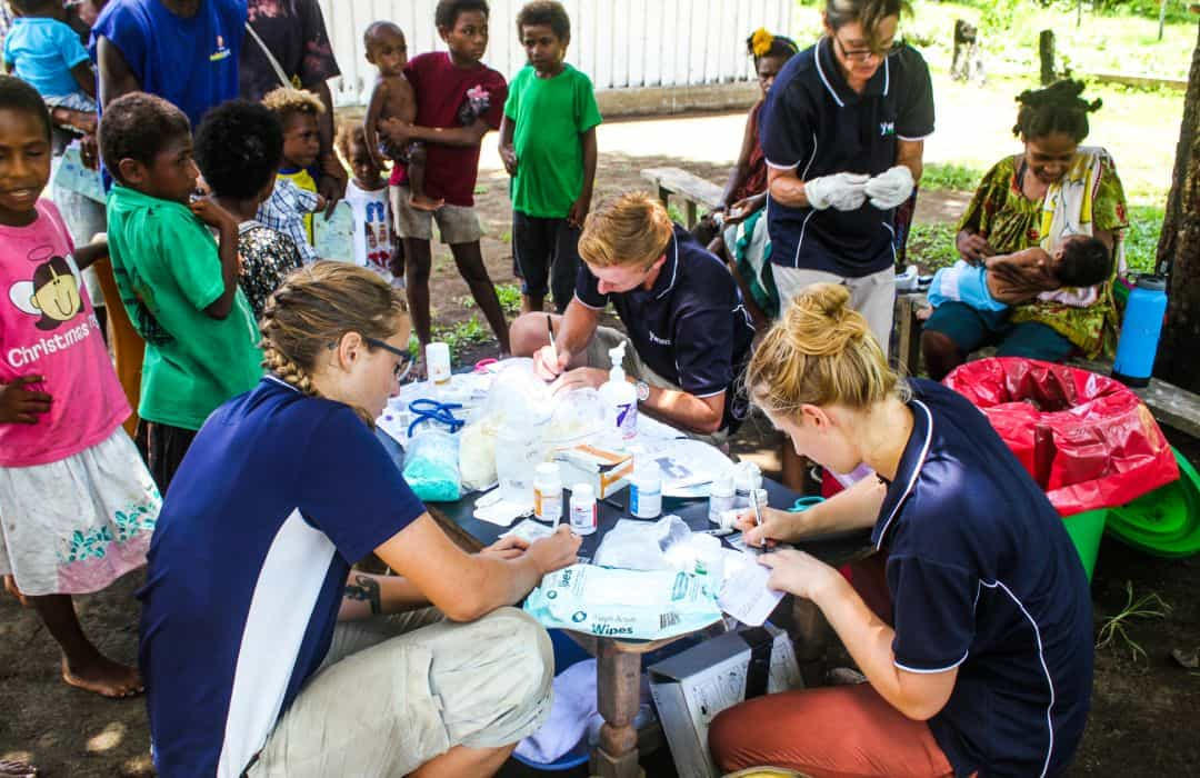 Nurses on primary health care in PNG