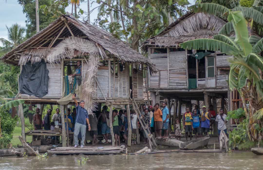 PNG village on river