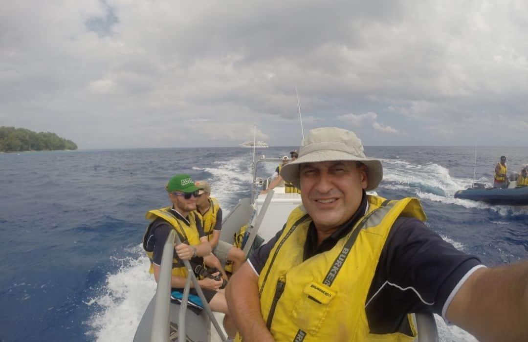 YWAM crew in zodiac boats