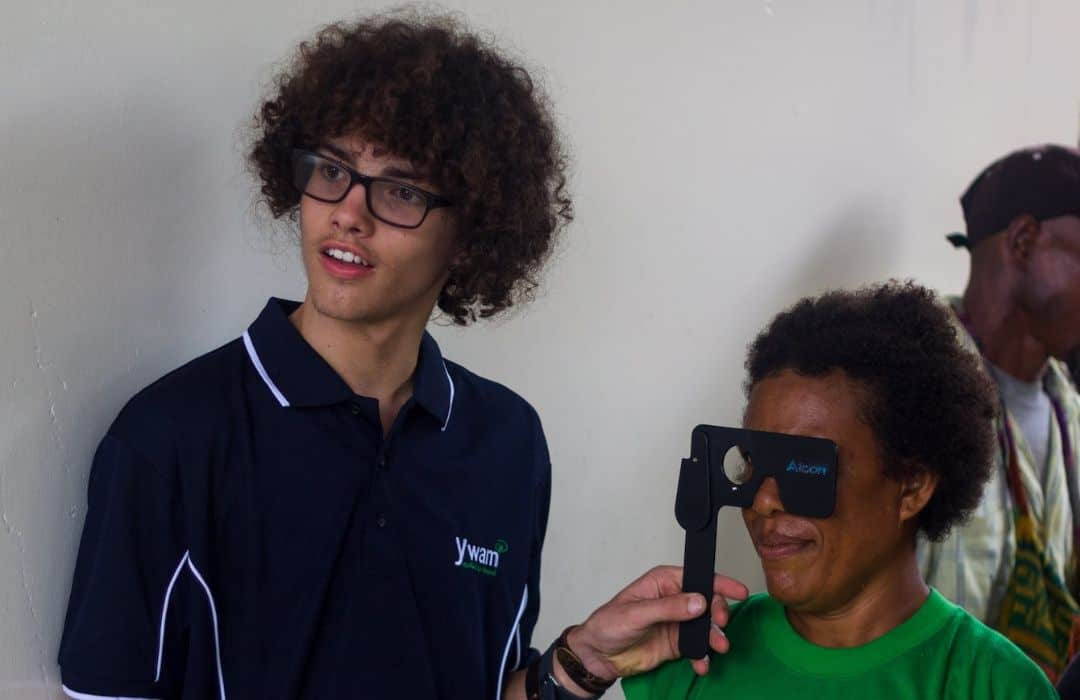 YWAM PNG locals getting eyes tested