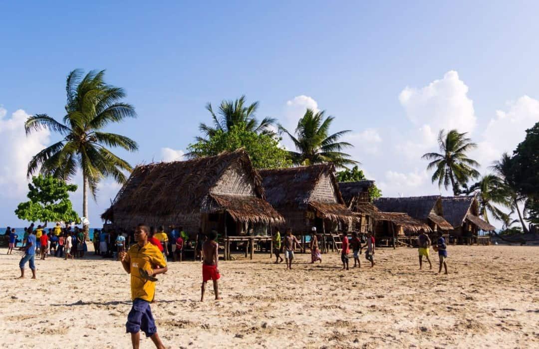 YWAM PNG village Huts