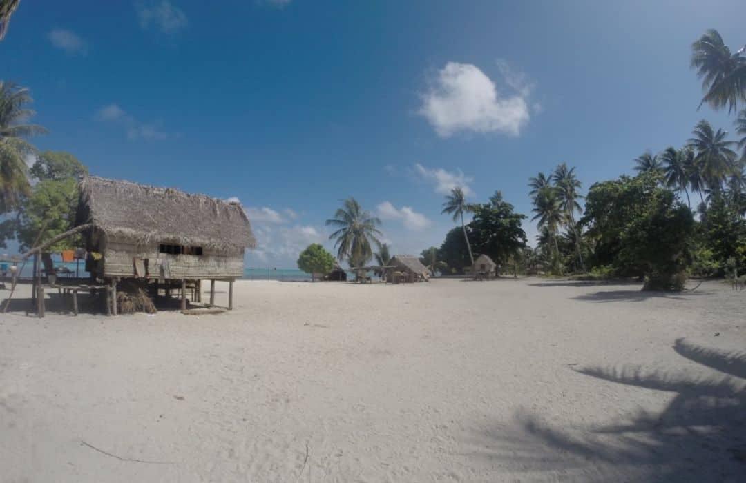 YWAM PNG beach village huts