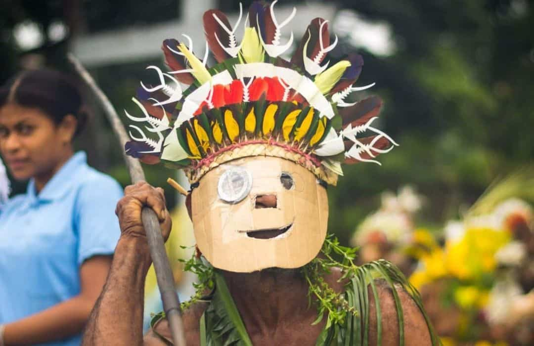 YWAM PNG Funny Warrior in wearing mask