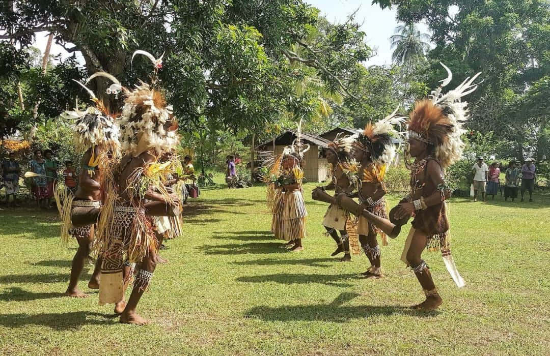 YWAM PNG Island Men tribal dance