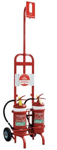 Trolly for moving Fire Extinguishers