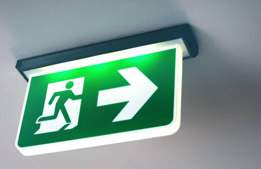 Running Man Exit Light